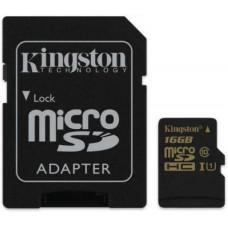 Карта памяти Kingston microSDHC 16GB UHS Class 10 R90/W45MB/s + SD адаптер
