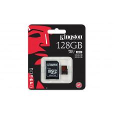 Карта памяти Kingston 4K microSDXC 128GB Class 10 UHS-I U3 R90/W80MB/s + SD адаптер