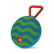 Акустика JBL Clip 2 Splash сине-зеленый узор