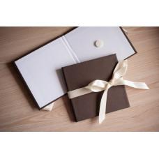 Коробка для диска картонная коричневая
