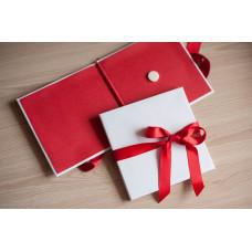 Коробка для диска картонная красная