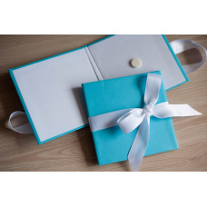 Коробка для диска картонная голубая