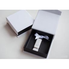 Коробка для флешки картонная черная