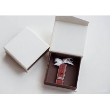 Коробка для флешки картонная коричневая