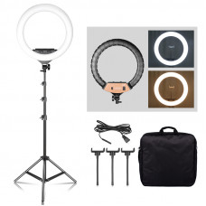Кольцевая LED лампа EL-F348 60 Вт (диаметр 45см) + пульт + стойка