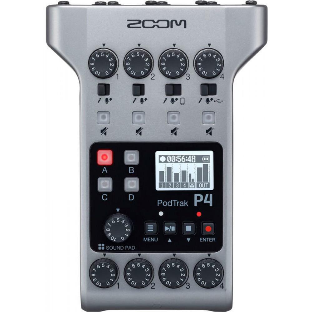 Zoom PodTrak P4 аудиорекордер для подкастеров