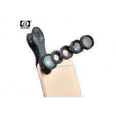 Набор объективов для телефона APEXEL Deluxe APL-DG5H 5 in 1 black