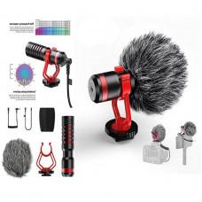 Микрофон-дробовик APEXEL для смартфонов и цифровых зеркальных фотоаппаратов - APL-MIC01 - черный