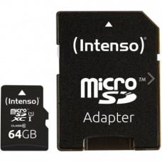 Карта памяти Intenso Micro SD Card Class 10 64GB SDXC