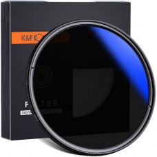 Светофильтр K&F Concept 62mm ND2-ND400, Blue Coated Slim Variable/Fader NDX