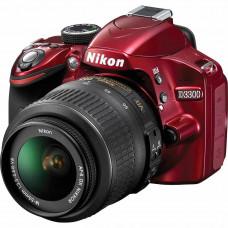 Фотокамера зеркальная Nikon D3300 + AF-P 18-55VR Red KIT