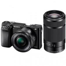 Фотокамера зеркальная Sony Alpha 6000 + объектив 16-50 + 55-210mm kit Black