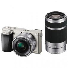 Фотокамера зеркальная Sony Alpha 6000 + объектив 16-50 + 55-210mm kit Silver