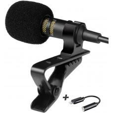 Петличный микрофон Lavalier lapel PowerDeWise с Lightning адаптером
