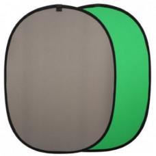 Фон на пружине 148х200 см Зеленый (Chroma Key)+Серый