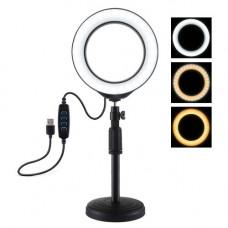 Кольцевой свет со стойкой Puluz PU392 Ring Light 16см (14W)