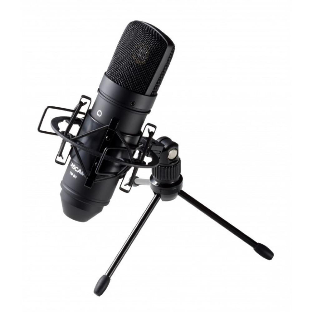 Конденсаторный студийный микрофон TASCAM TM-80 Black