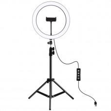 Кольцевой свет со стойкой Puluz PKT3056B Ring Light 30см (25W)