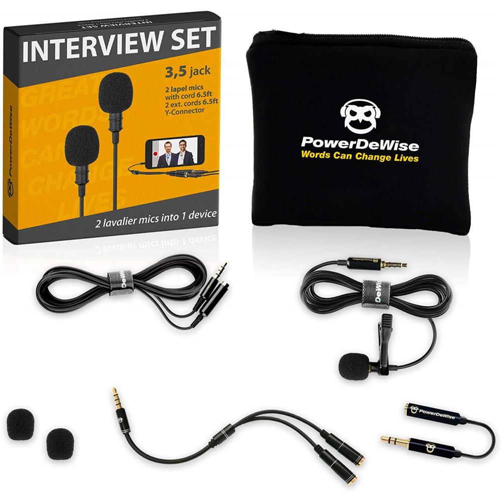 Петличный микрофон PowerDeWise - Набор из двух микрофонов (pdw2)