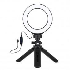 Кольцевой свет со стойкой Puluz PKT3058 Ring Light 12см (8W)