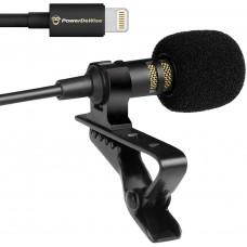 Петличный микрофон Lavalier lapel PowerDeWise с Lightning разъемом