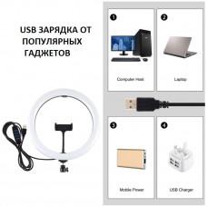 Кольцевой свет со стойкой Puluz PKT3061B Ring Light 30см (25W)