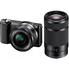 Фотокамера зеркальная Sony Alpha 5000 + объектив 16-50 + 55-210mm kit Black